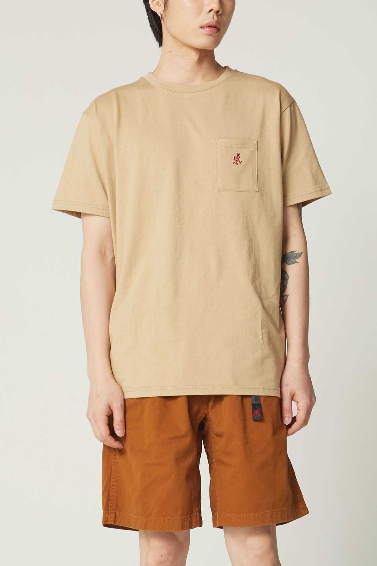 ONE POINT TEE BEIGE