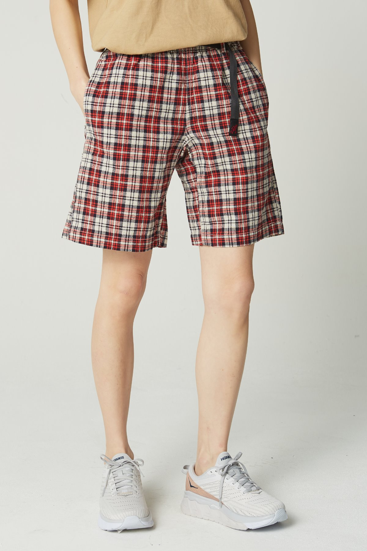 LINEN COTTON WS G-SHORTS MADRAS