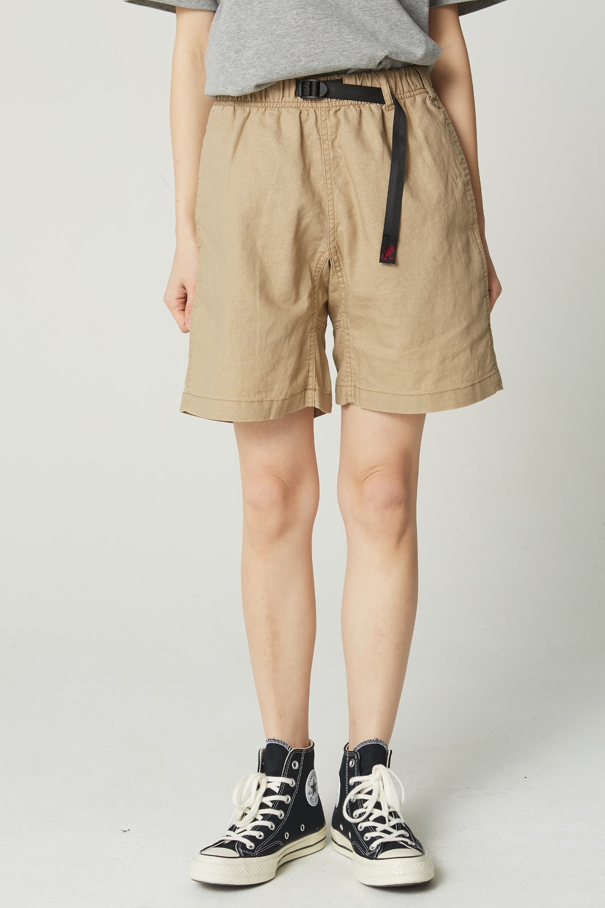 LINEN COTTON WS G-SHORTS BEIGE