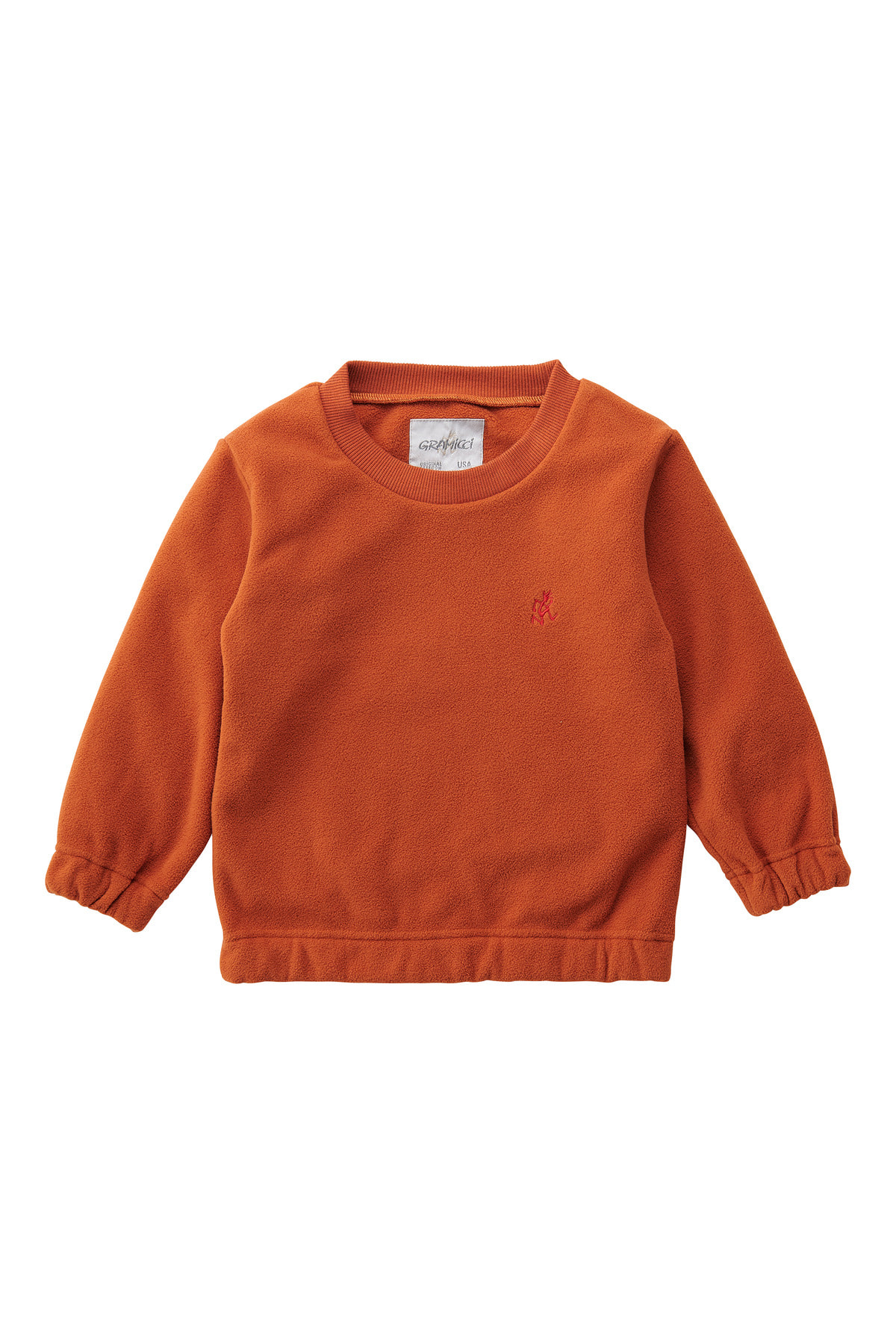 KIDS FLEECE CREW NECK ORANGE