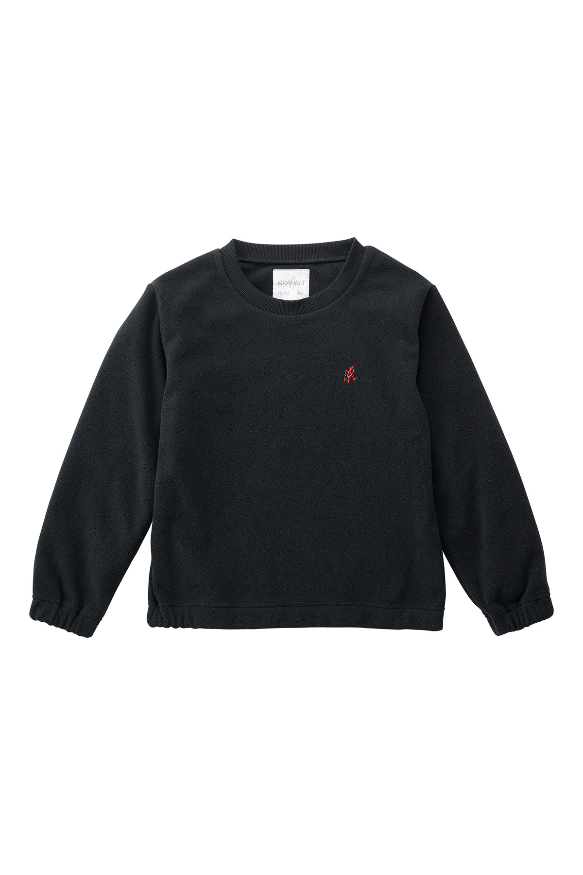 KIDS FLEECE CREW NECK BLACK