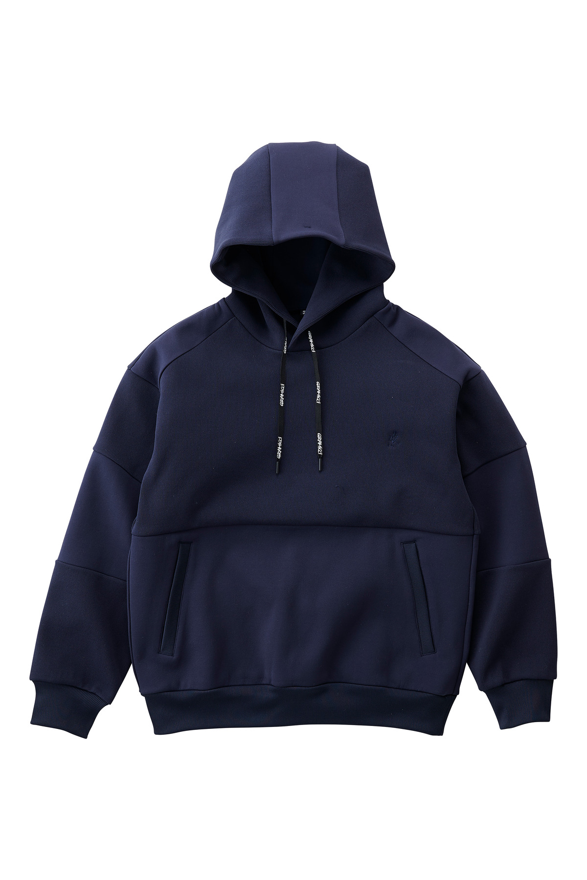 QUARTER KNIT HOODY DOUBLE NAVY