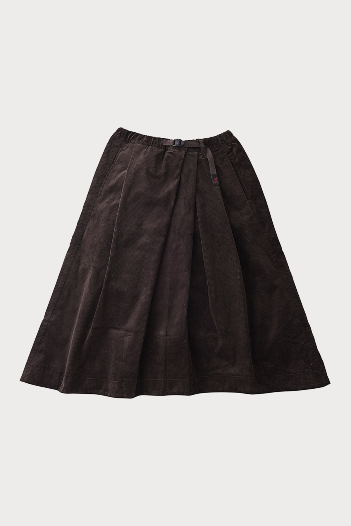 CORDUROY TALECUT SKIRT DARK BROWN