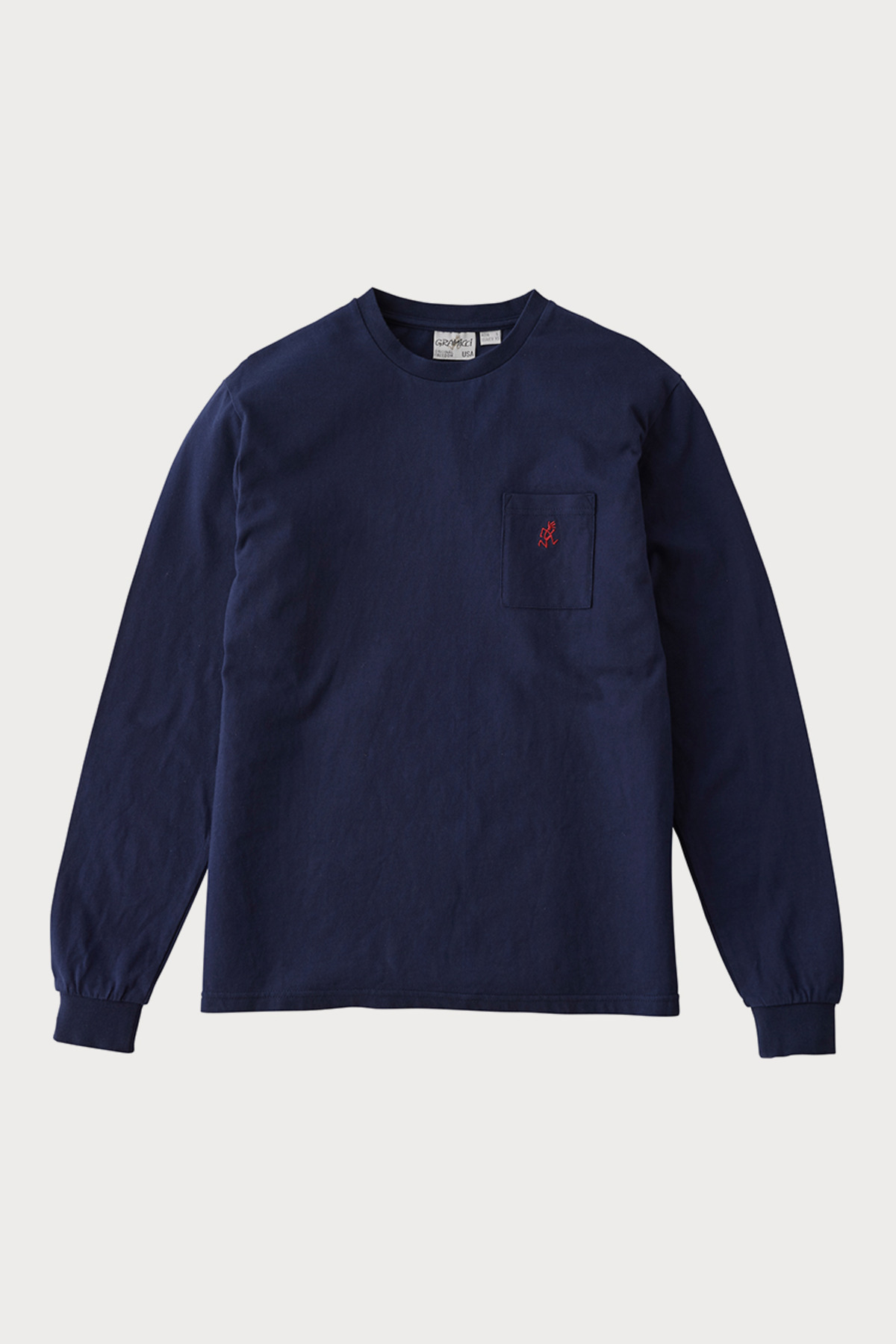 ONE POINT L/S TEE NAVY