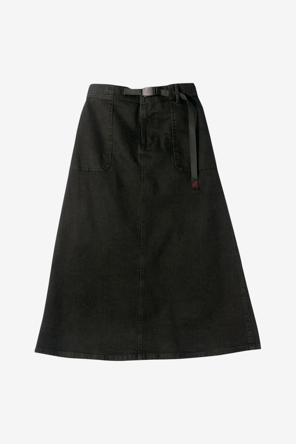 DENIM BAKER SKIRT BLACK ONE WASH