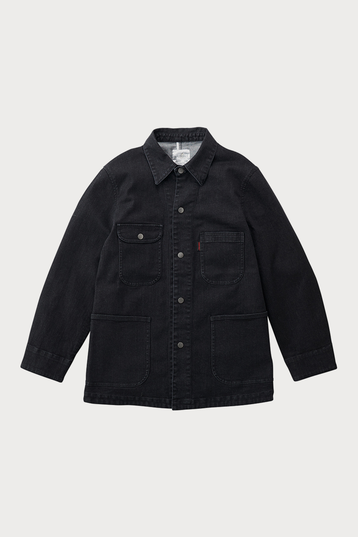 DENIM COVER ALL JACKET BLACK ONE WASH
