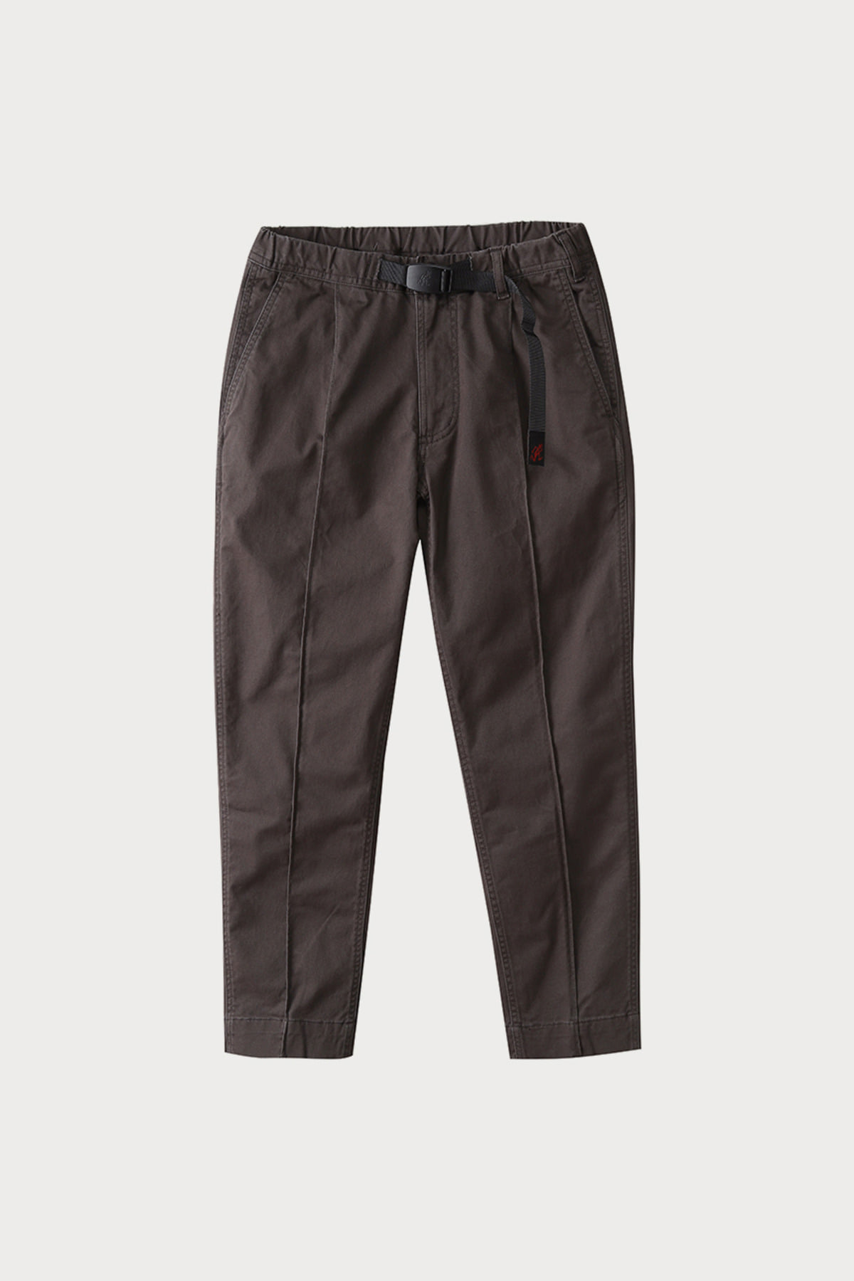 PINTUCK PANTS DARK BROWN