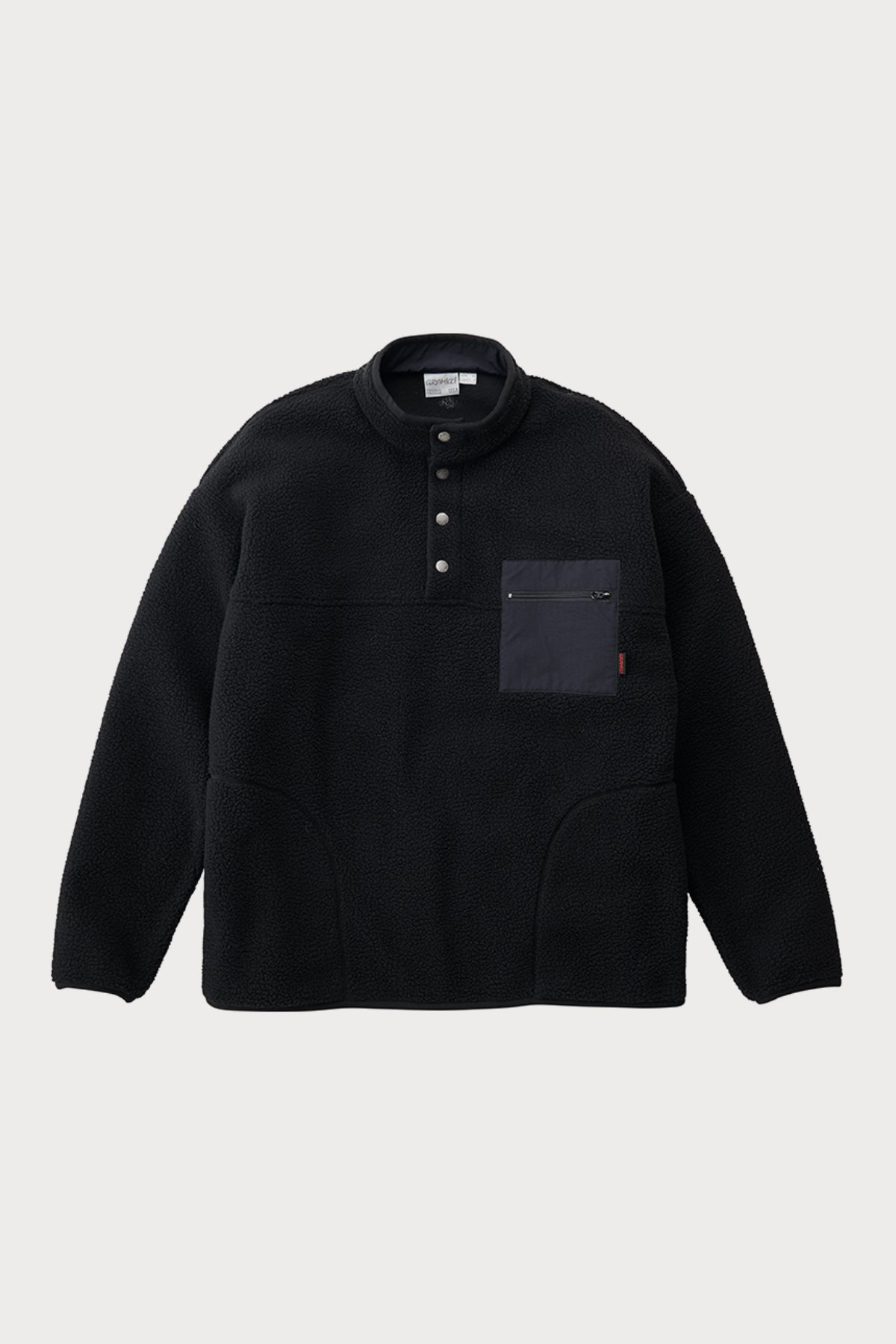 BOA FLEECE PULLOVER SHIRTS BLACK