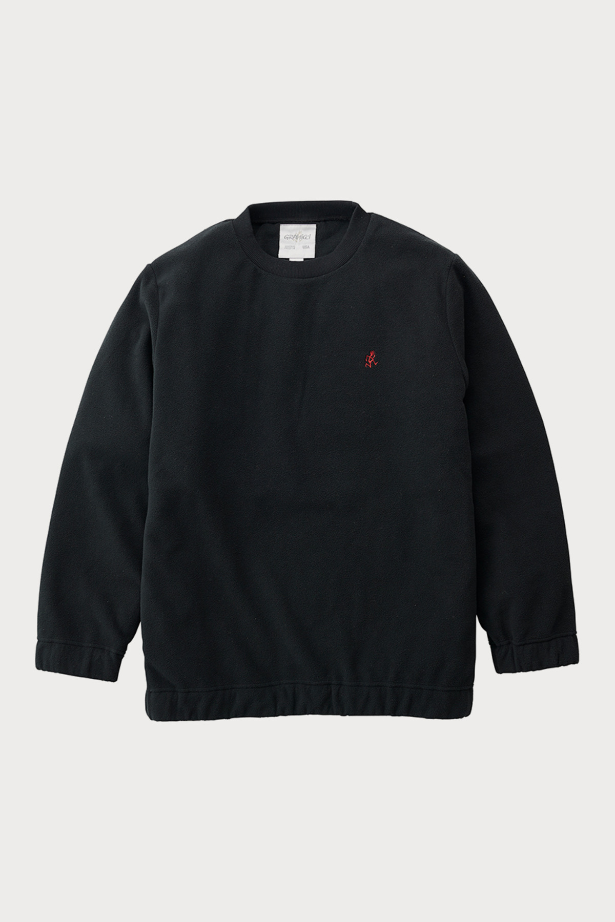 FLEECE CREW NECK BLACK