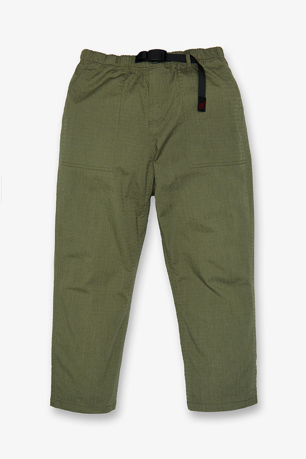 BIG RIPSTOP LOOSE TAPERED PANTS MOSS