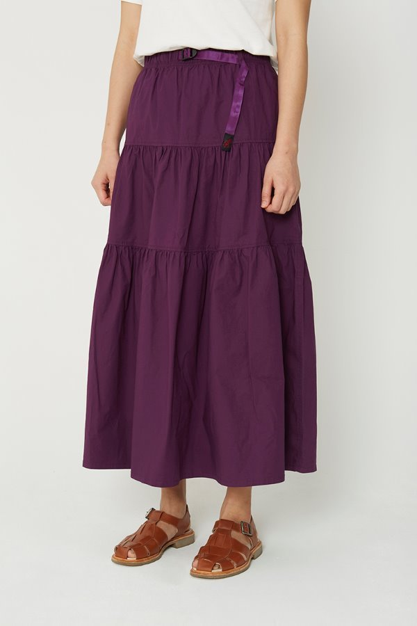 WEATHER TIERED SKIRT PURPLE