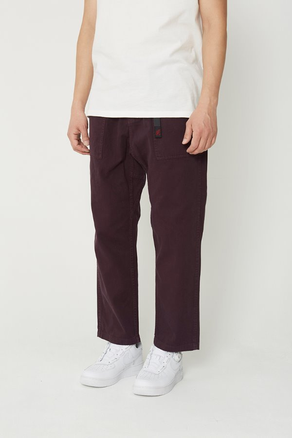 LOOSE TAPERED PANTS RAISIN