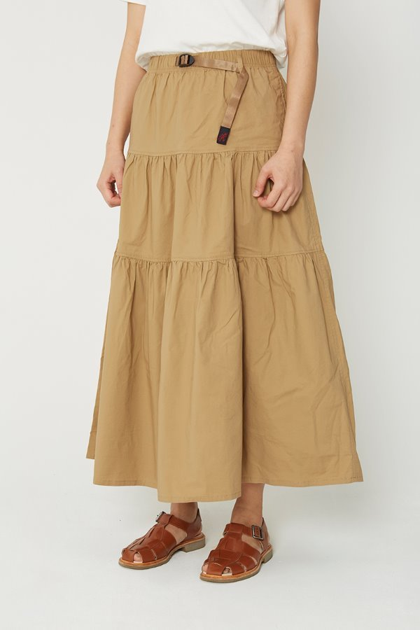 WEATHER TIERED SKIRT SAND