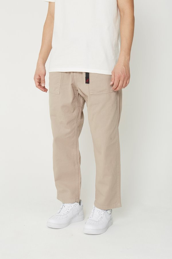 LOOSE TAPERED PANTS TAUPE